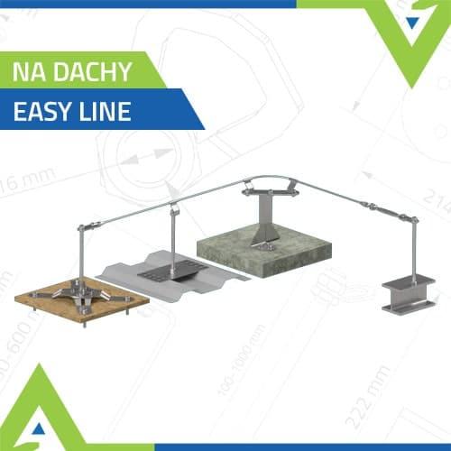 Poziome linowe systemy asekuracji - na dachy - Easy Line