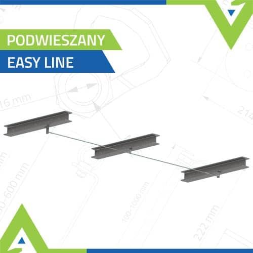Poziome linowe systemy asekuracji - podwieszane - Easy Line