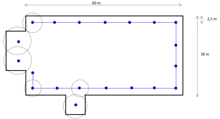Projekt systemu asekuracji na dachu o nieregularnych kształtach