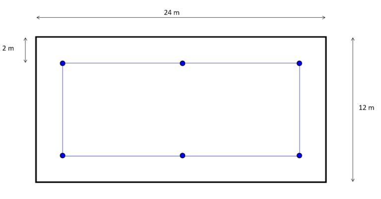 Schemat linowego systemu asekuracji na dachu