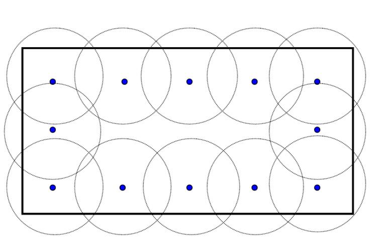 Schemat systemu asekuracji opartego na słupkach asekuracyjnych